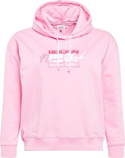 Tommy Jeans Curve Sweat-shirt en rose clair / blanc, Vue avec produit