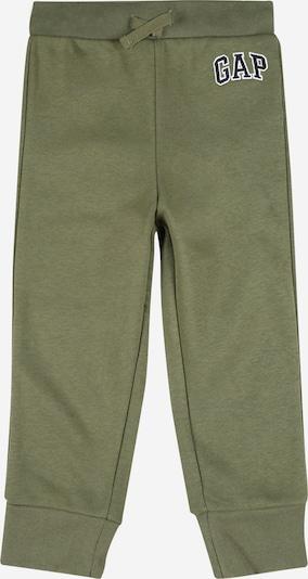 GAP Broek in de kleur Olijfgroen / Zwart, Productweergave