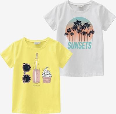 NAME IT T-Shirt 'VEEN' in hellblau / limone / altrosa / schwarz / weiß, Produktansicht
