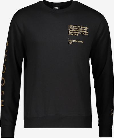 NIKE Sweatshirt in gold / schwarz, Produktansicht