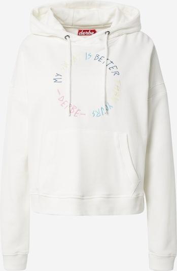 Derbe Sweat-shirt en mélange de couleurs / blanc, Vue avec produit