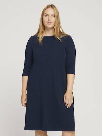 MY TRUE ME Gebreide jurk in Blauw