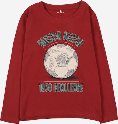 NAME IT Shirt 'TICKO' in beige / grau / rot / schwarz, Produktansicht