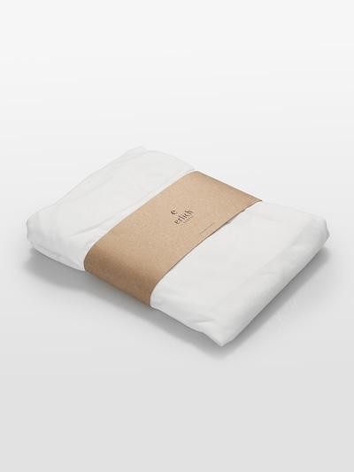 Erlich Textil Lakens ' Lasse ' in de kleur Natuurwit, Productweergave