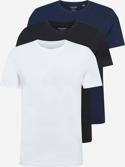 JACK & JONES Koszulka w kolorze ciemny niebieski / czarny / offwhitem, Podgląd produktu