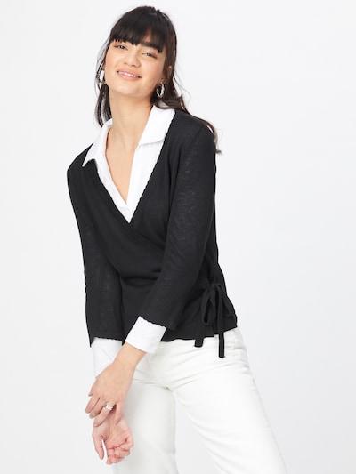 VILA Gebreid vest 'DENICE' in de kleur Zwart, Modelweergave