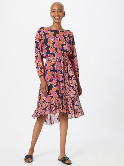 HUGO Kleid 'Kimiria-1' in orange / pink / schwarz / weiß, Modelansicht
