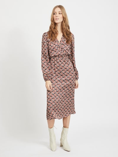 VILA Kleid 'MARIE HAFA' in braun / mischfarben, Modelansicht