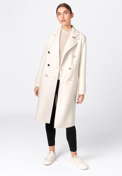 HALLHUBER Doppelreihiger Doubleface-Mantel in beige, Modelansicht