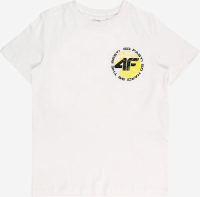 4F Sportshirt in gelb / schwarz / weiß, Produktansicht