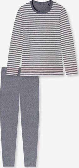 SCHIESSER Pyjama en bleu chiné / rose chiné / blanc, Vue avec produit