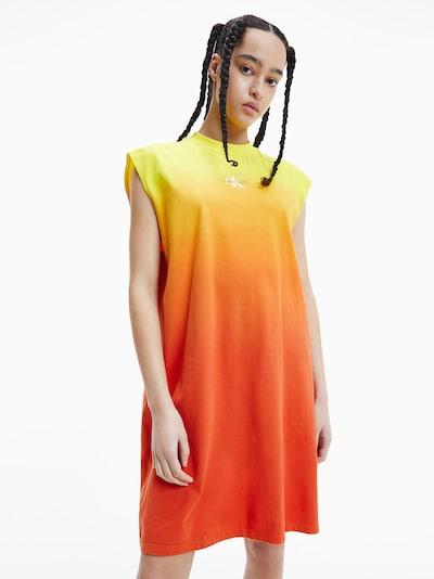 Calvin Klein Jeans Kleid in gelb / orange / dunkelorange, Modelansicht