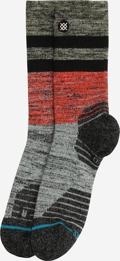 Șosete sport 'ALDER' Stance pe gri / gri închis / roșu / negru, Vizualizare produs