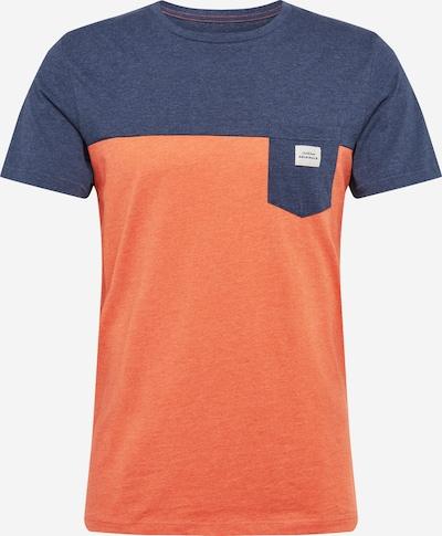 JACK & JONES Shirt in marine / orange, Produktansicht