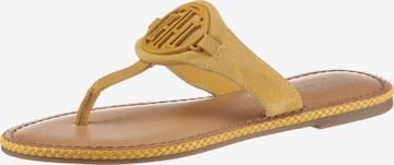 TOMMY HILFIGER T-Bar Sandals in Yellow
