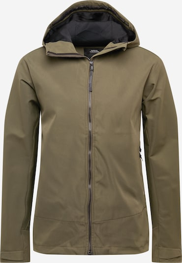 Didriksons Veste outdoor 'Flynn' en gris fumé / vert, Vue avec produit