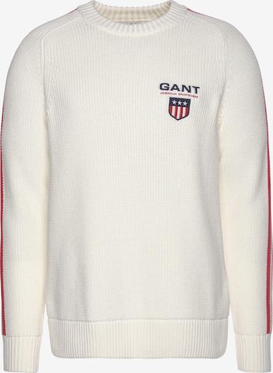 GANT Pullover in creme / blutrot / weiß, Produktansicht