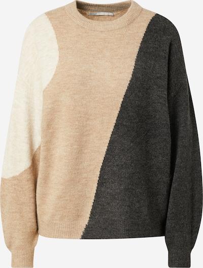 ONLY Pullover 'SILJA' in beigemeliert / braun / schwarzmeliert, Produktansicht