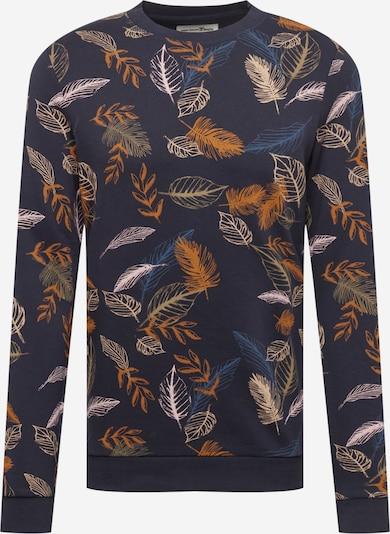 Bluză de molton TOM TAILOR DENIM pe albastru / bleumarin / galben deschis / portocaliu / roz pudră, Vizualizare produs