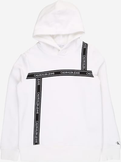 Calvin Klein Jeans Sweater majica u crna / bijela, Pregled proizvoda