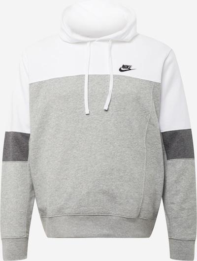 Nike Sportswear Sweat-shirt en gris foncé / gris chiné / blanc, Vue avec produit