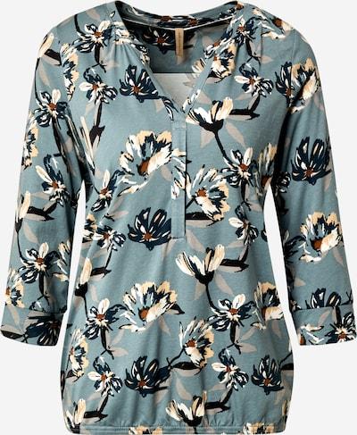 Soyaconcept Shirt 'FELICITY' in de kleur Beige / Pastelblauw / Wit, Productweergave
