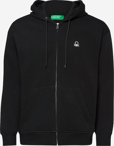 UNITED COLORS OF BENETTON Sweatjacke in schwarz / weiß, Produktansicht
