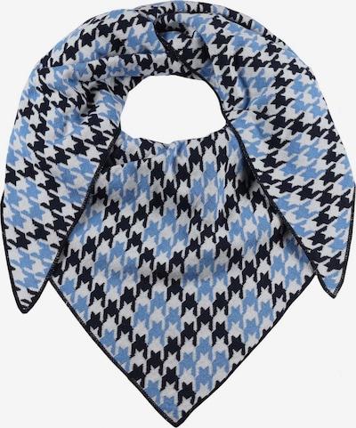 Zwillingsherz Masque en tissu 'Hahnentritt' en bleu cobalt / noir / blanc, Vue avec produit