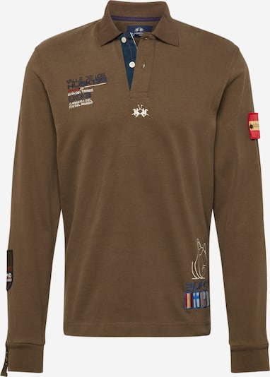 La Martina Shirt 'SMP315JS005' in khaki / mischfarben, Produktansicht