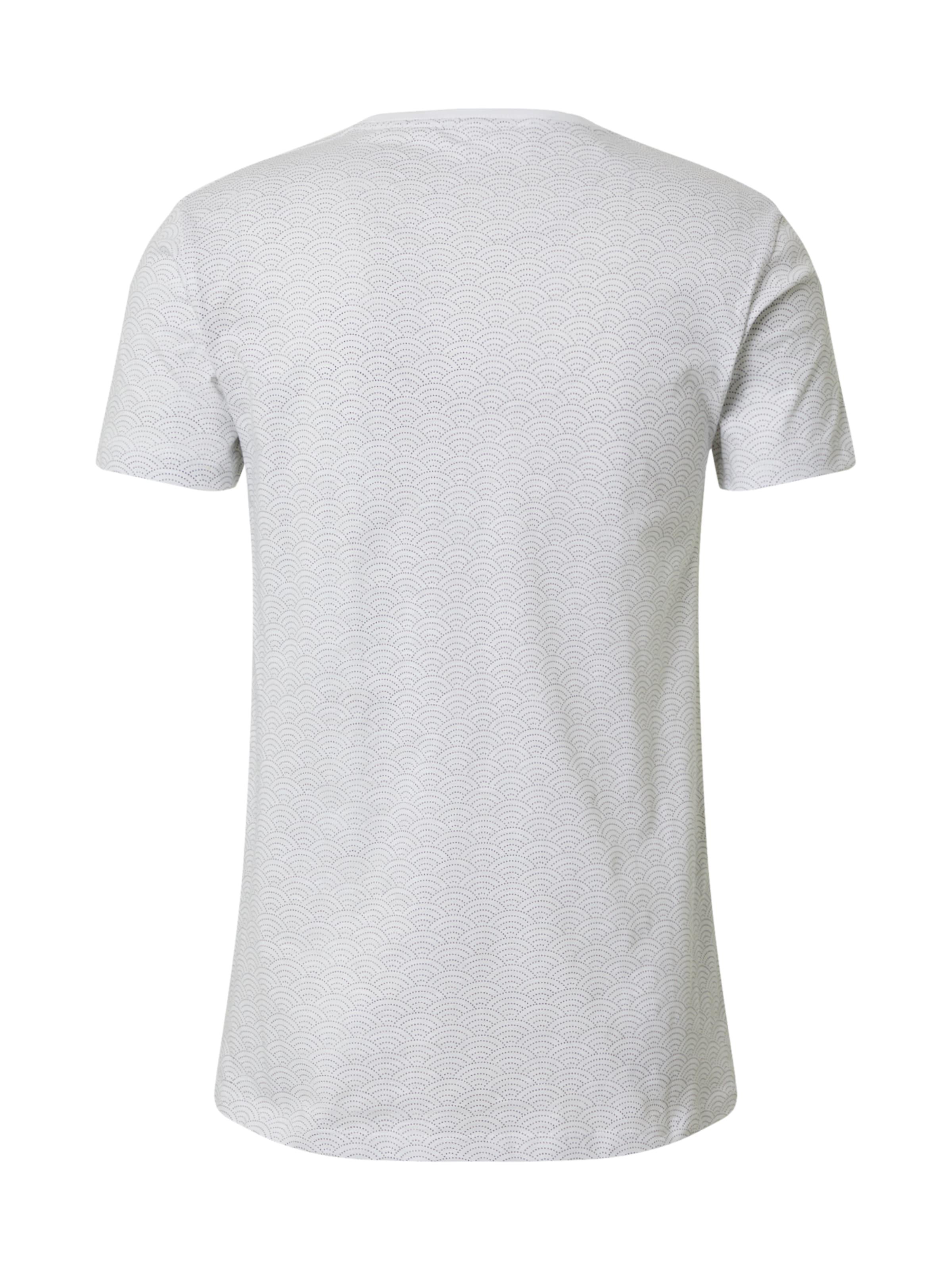 Lindbergh Shirt in graumeliert / weiß Jersey LIH0111002000001