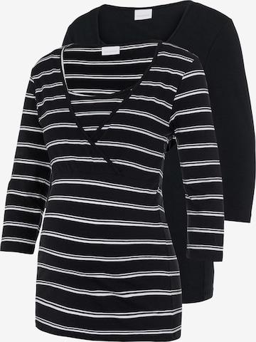 MAMALICIOUS Tričko 'Lea' - Čierna