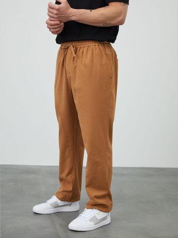 DAN FOX APPAREL Trousers 'Kai' in Brown