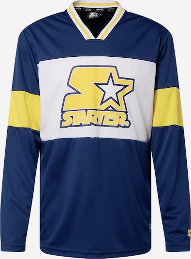 Tricou Starter Black Label pe albastru închis / galben / alb, Vizualizare produs