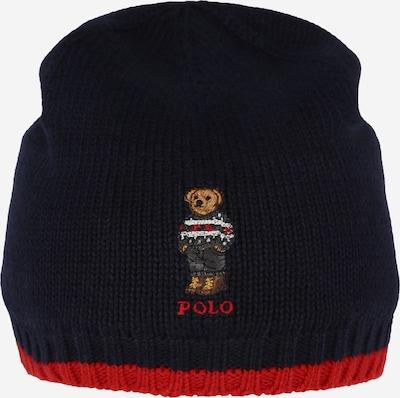Polo Ralph Lauren Mütze in navy / braun / dunkelgrau / rot, Produktansicht