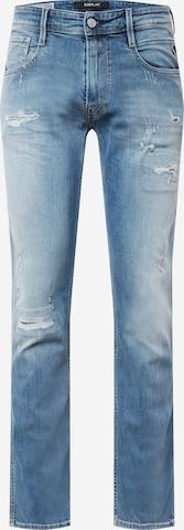 REPLAY Teksapüksid 'ANBASS', värv sinine