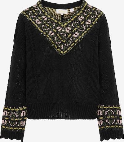 usha FESTIVAL Pullover in gelb / grau / schwarz, Produktansicht