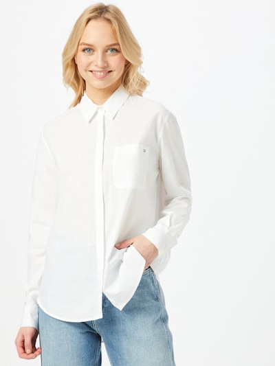 Calvin Klein Bluse in naturweiß, Modelansicht