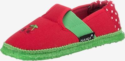 NANGA Hausschuh in grasgrün / rot / weiß, Produktansicht