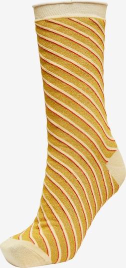 Calzino 'Vida' SELECTED FEMME di colore beige / giallo oro / rosso, Visualizzazione prodotti
