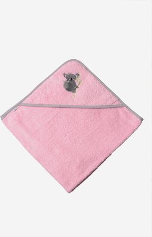 LILIPUT Kapuzenbadetuch 'Koala' in Pink