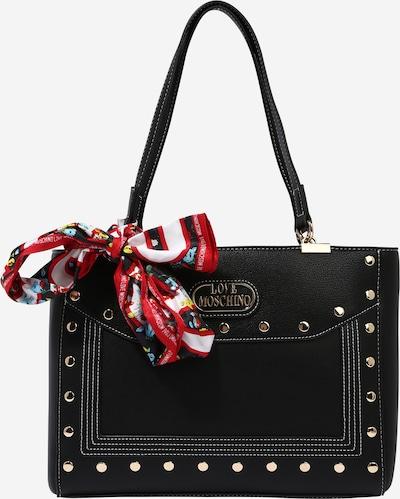 Love Moschino Handtasche in gold / rot / schwarz / weiß, Produktansicht