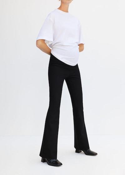 MANGO Leggings 'Maflare-i' in schwarz, Modelansicht