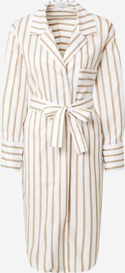 BOSS Casual Robe-chemise 'C_Disso' en beige / blanc, Vue avec produit