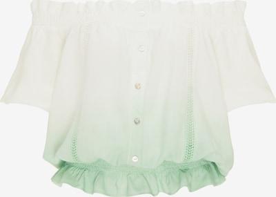 MYMO Blouse in de kleur Pastelgroen / Wit, Productweergave