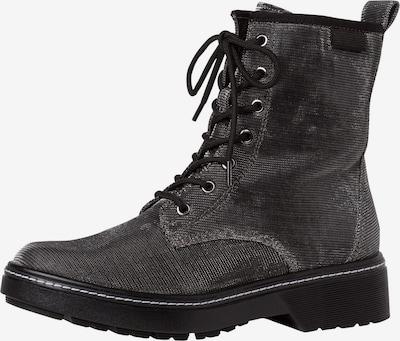 TAMARIS Veterlaarsjes in de kleur Zilvergrijs / Zwart, Productweergave