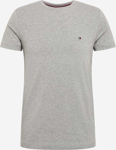 TOMMY HILFIGER T-Shirt en bleu marine / gris chiné / rouge feu / blanc, Vue avec produit
