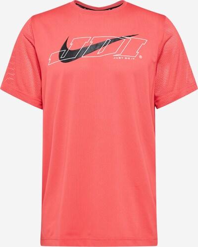 NIKE Functioneel shirt in de kleur Watermeloen rood / Zwart / Wit, Productweergave
