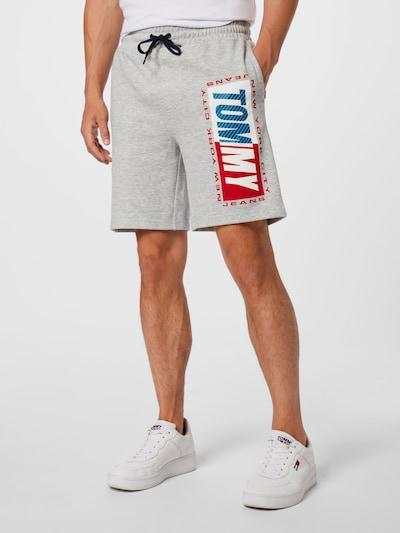 Tommy Jeans Nohavice - tmavomodrá / nebesky modrá / sivá melírovaná / červená / biela, Model/-ka