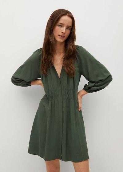 MANGO Kleid 'SMITHS' in dunkelgrün, Modelansicht