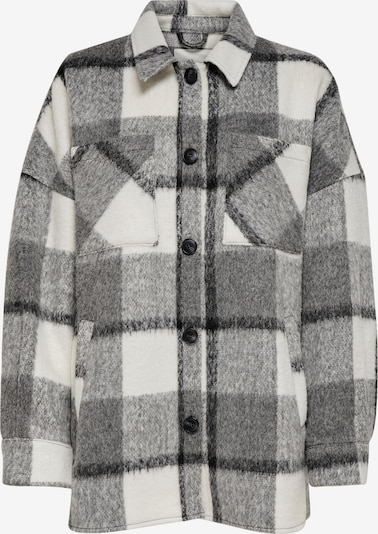 ONLY Prijelazna jakna 'Mia-Lou' u siva melange / crna / bijela, Pregled proizvoda